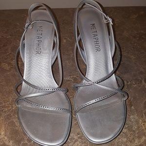 Ladies size 10 Metaphor Silver Sandal